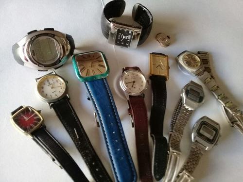 Lote relojes usados antiguos (no funcionan)