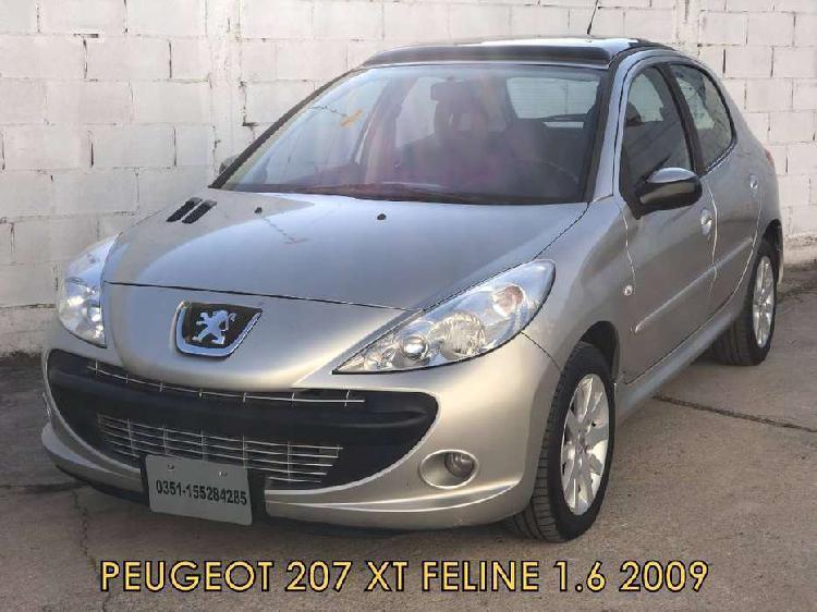 Peugeot 207 feline xt 1.6 2009 * financio * recibo menor *