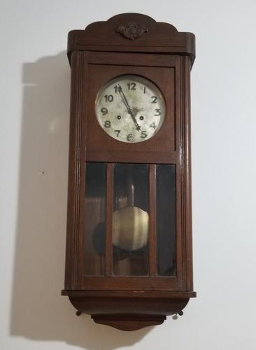 Reloj a pendulo - de pared antiguo - junghans - funcionando!