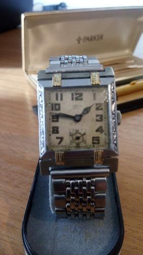 Reloj antiguo 1920 oro abysa maquina 2 da marca movado