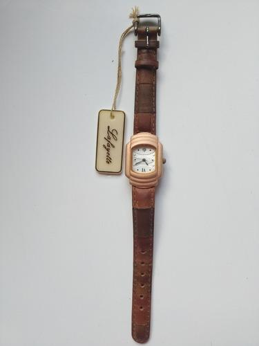 Reloj antiguo vintage pulsera marca lafayette cuero original