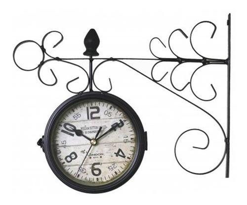 Reloj de estación antiguo negro de pared 15cm diam pc