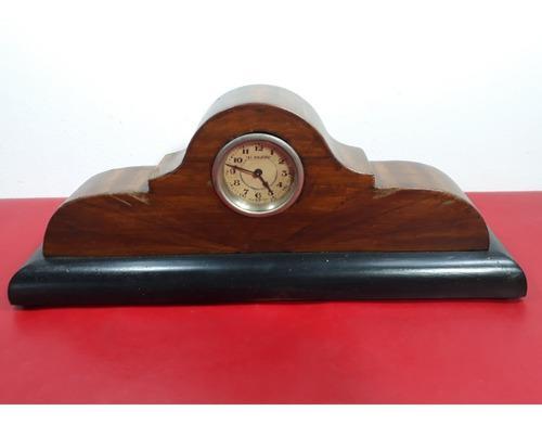 Reloj de mesa antiguo - madera - coleccion - el viajero