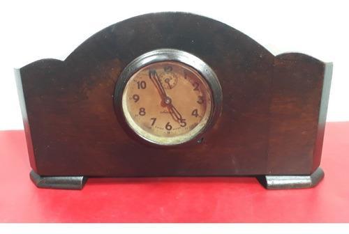 Reloj de mesa antiguo - madera - coleccion - switana