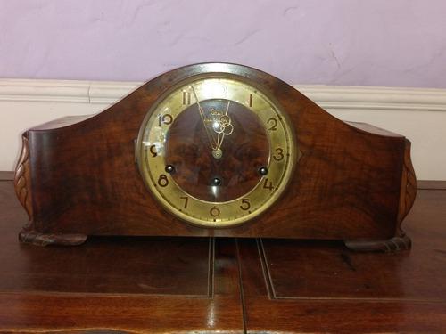 Reloj de mesa carrillon casa escasany caoba original antiguo