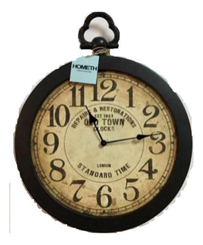 Reloj de pared estilo antiguo 40 cm de diámetro, sin vidrio