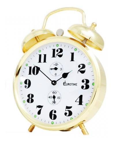 Reloj despertador eurotime a cuerda con campana