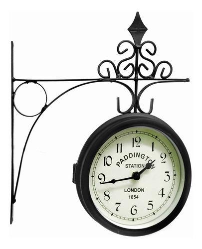 Reloj pared decoración casa living estilo antigüo original