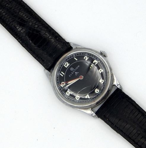 Reloj suizo election mecanico antiguo militar