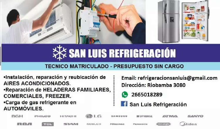 Reparacion e instalación de aires acondicionados y
