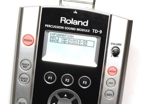 Roland td-9 v2 modulo completo cables accesorios ++permuto++