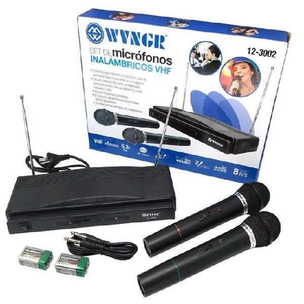 Set de micrófonos inalambricos wvngr vhf 12-3002