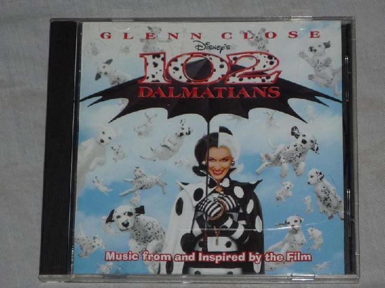 102 dalmatians / dálmatas soundtrack. cd banda de sonido.