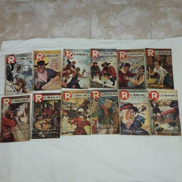 Antiguas revistas rojinegro, colección completa año 1.953