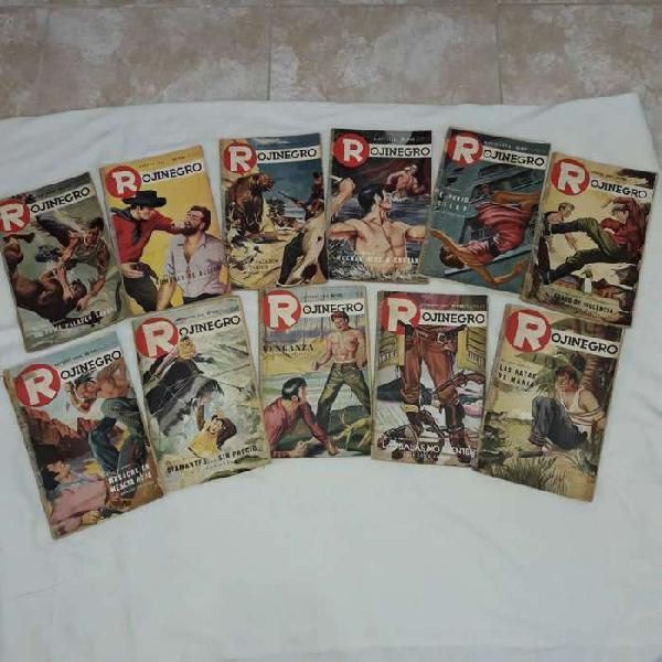 Antiguas revistas rojinegro, colección incompleta del año