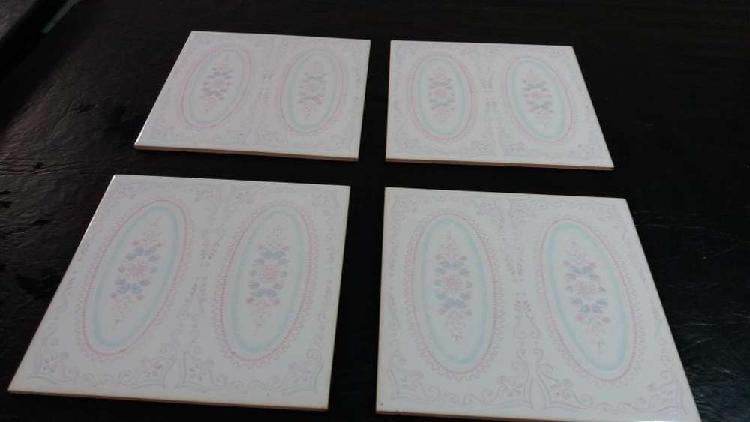 Azulejos decorados antiguos decoracion/reposicion x 10