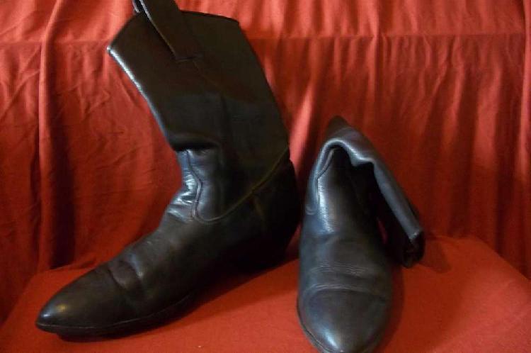 Botas texanas negras cuero