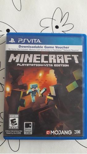 Cajita de minecraft ps vita (no incluye el juego)