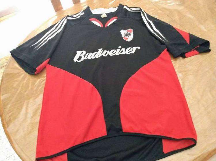 Camiseta river 2004 negra mercado pago sponsor budweiser no