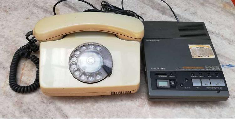 Contestador autom panasonic kx-t5100+telefono a disco.