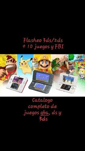 Flasheo nintendo 3ds/2ds + 10 juegos