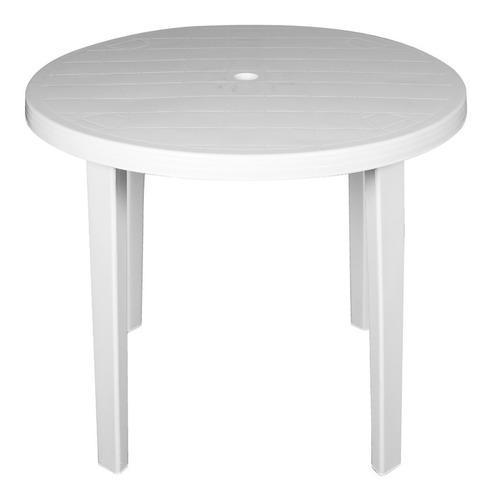 Mesa redonda plastica 90 cm con patas desmontables