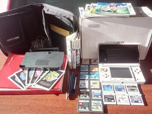 Nintendo 3ds edicion especial+18 juegos fisicos+11 juegos di