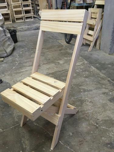 Silla plegable de madera pino