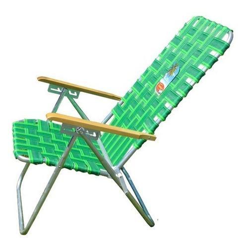 Silla reposera alta playera aluminio 5 posiciones plegable