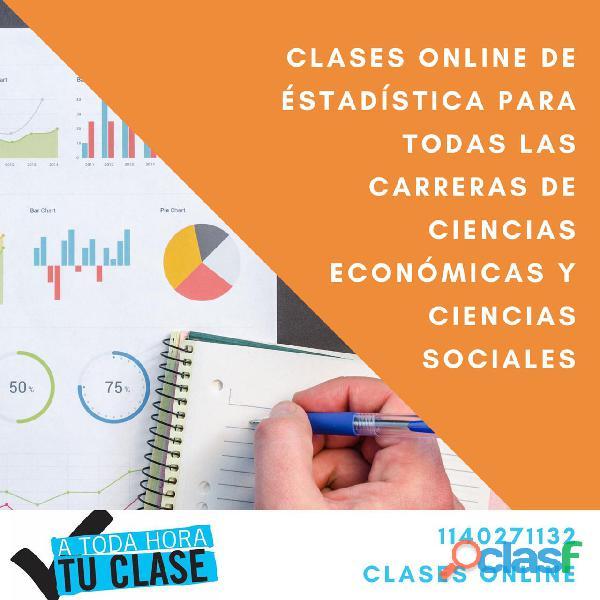 Clases particulares online de calculo financiero y estadística