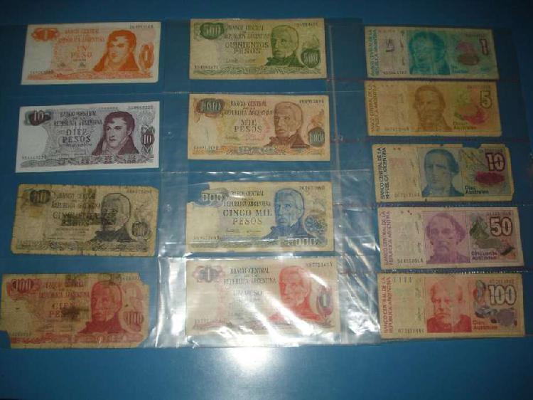 Colección de billetes argentinos x13