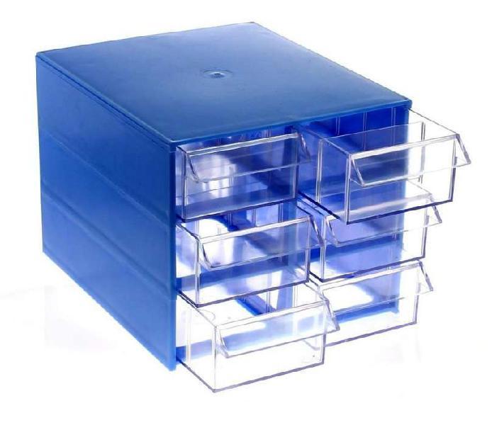 Gavetero multiuso fury caja plastica 30-206 6 cajones c/div.