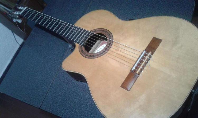 Guitarra electroacústica fonseca 41 kec,media caja