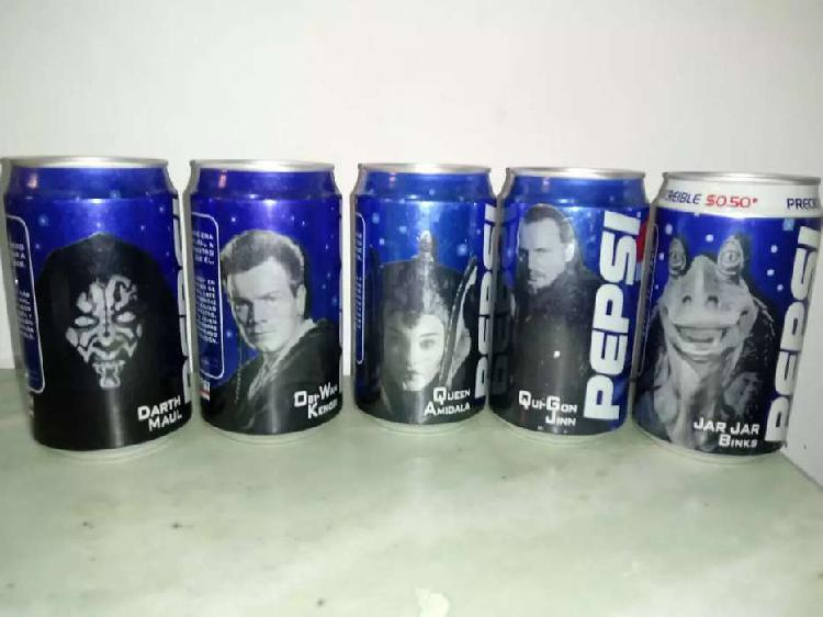 Latas pepsi star wars 5 unidades año 2000