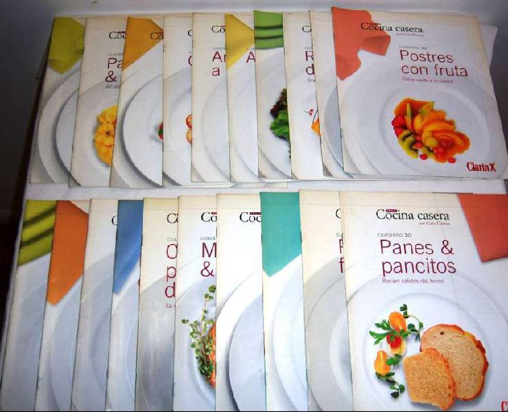 Lote de libros y revistas de cocina en general