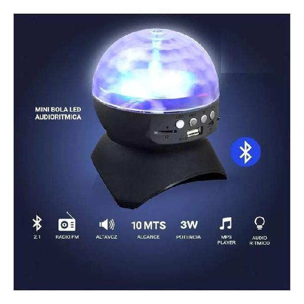 Media esfera led con efecto muy potente bluetooth mp3