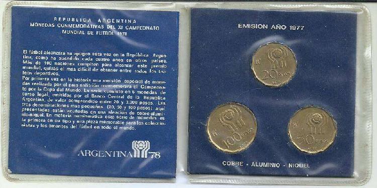 Monedas del mundial 78 de colecciòn!