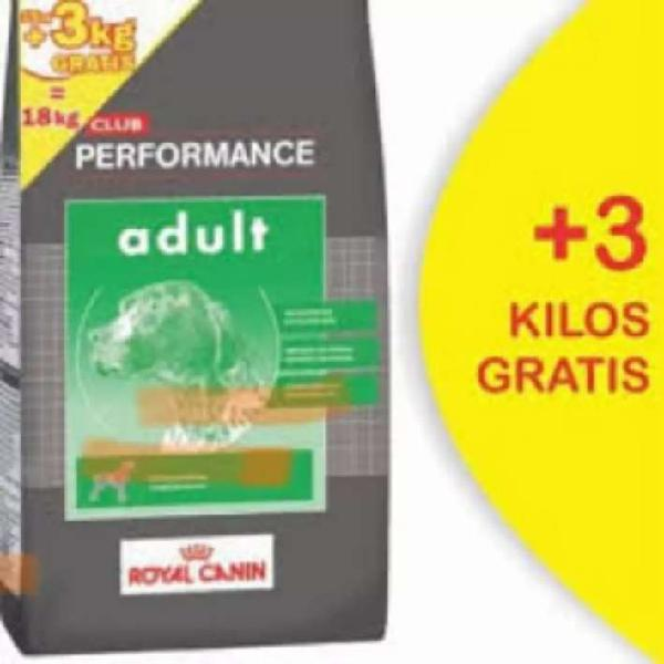 Performance adulto x 15 kgrs más 3 kilos gratis
