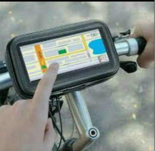Soporte funda porta celular gps tactil p/moto - bicicleta