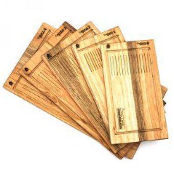 Set x 5 tablas de corte - asado - picada
