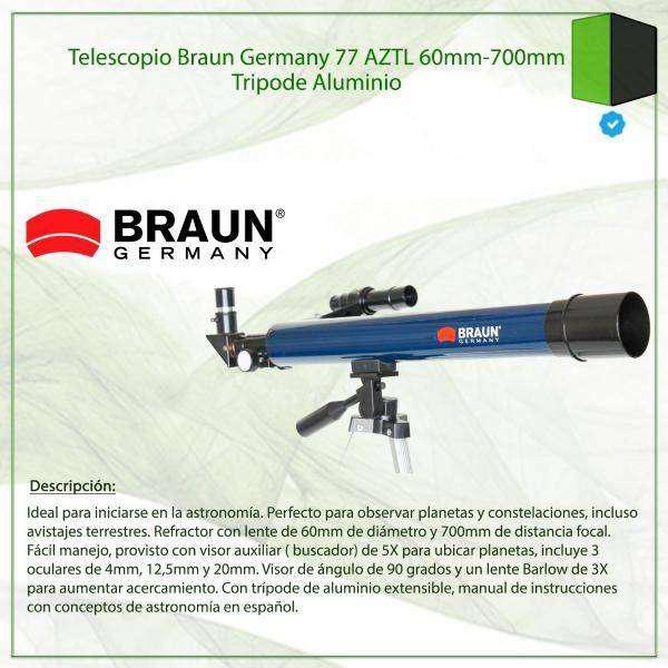 Telescopio Braun Germany 77AZTL
