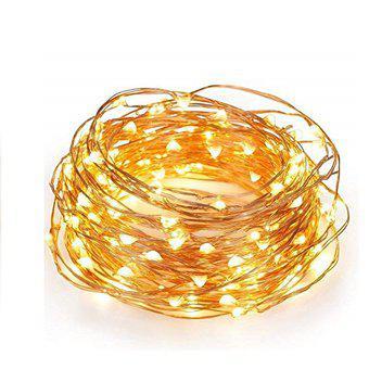 Tira led de 5 metros 50 luces led en alambre de cobre