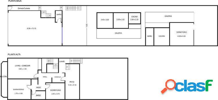 Venta de 2 casas con local a refacc. Lote de 7,79 X 44,30m USAB2 - Saavedra 2