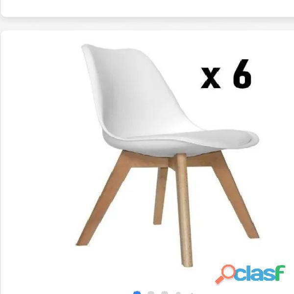 """"""" oferton """" 4 sillas eames excelente x 16.800 6 sillas por 24.00 y por unidad 4.500"""