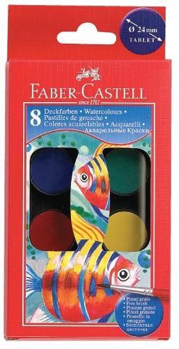 Faber-castell 1173 acuarelas escolares x8
