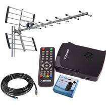 Kit sintonizador tda hd + antena yagi + 10mts cable