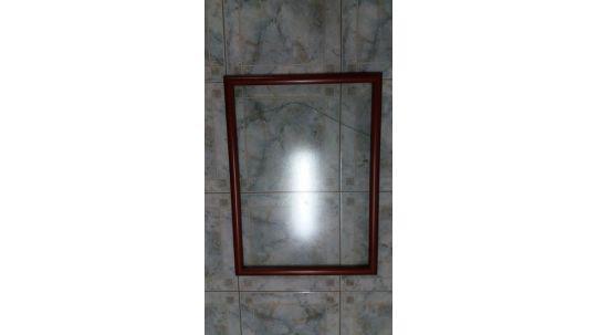 Marco madera vidrio antireflex alto 75,5 cm largo 55,5 cm