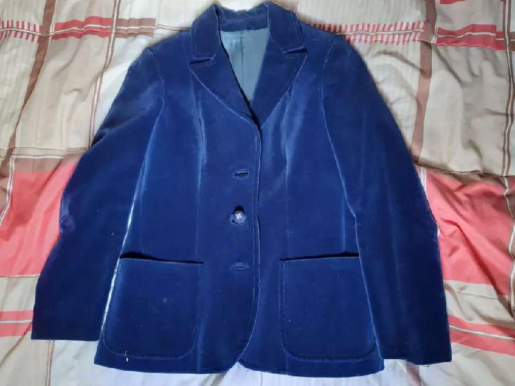 Saco de pana azul talle m