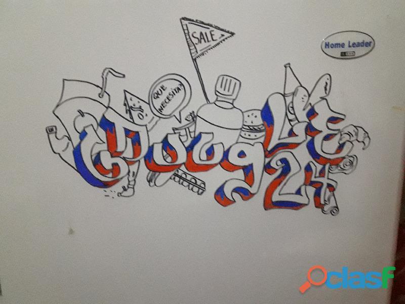 Dibujo letras y frases, en 3d, con colores y dibujos. logos