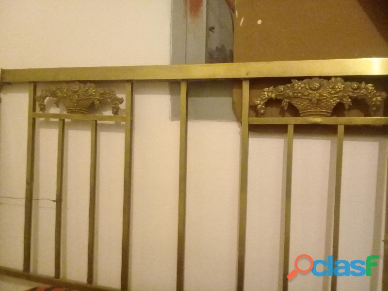 Vendo espaldares de bronce cama de 2 plazas
